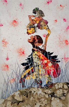 Wangechi Mutu's Fantastical Journey, Dripped, Dipped and Left to Bled