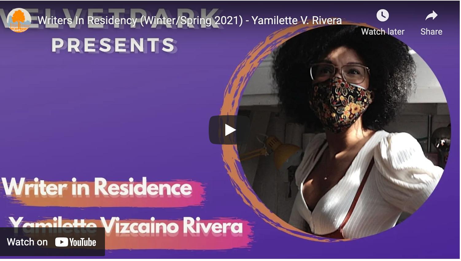 Yamilette Vizcaino | Writer in Residence